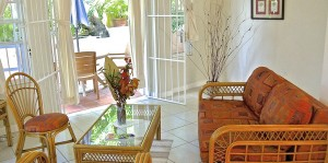 self catering accommodation -Villa 6 garden terrace