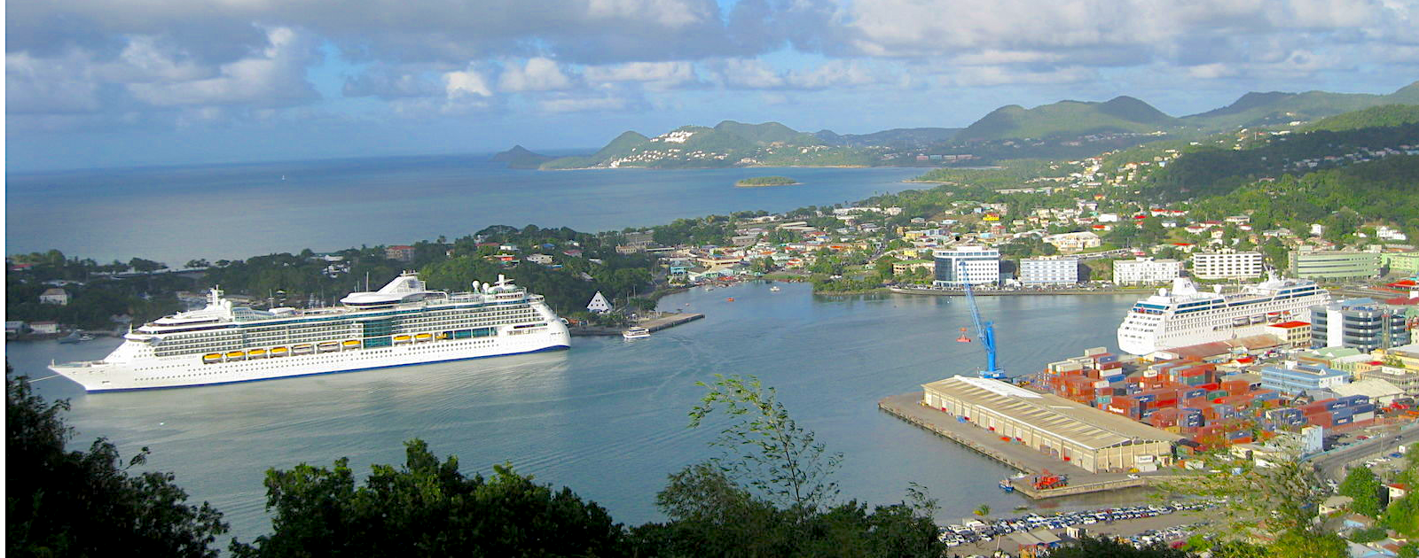 Castries Harbour from Government House